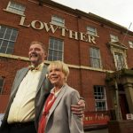 Julie & Howard Duckworth outside The Lowther Hotel